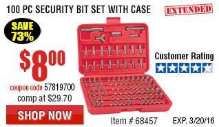 100 Pc Security Bit Set with Case