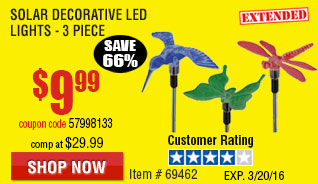 Solar Decorative LED Lights - 3 Pc Stool/Working Platform