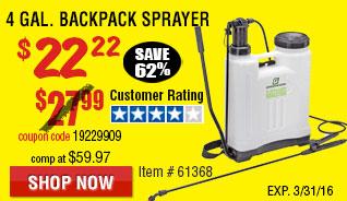 4 gal. Backpack Sprayer