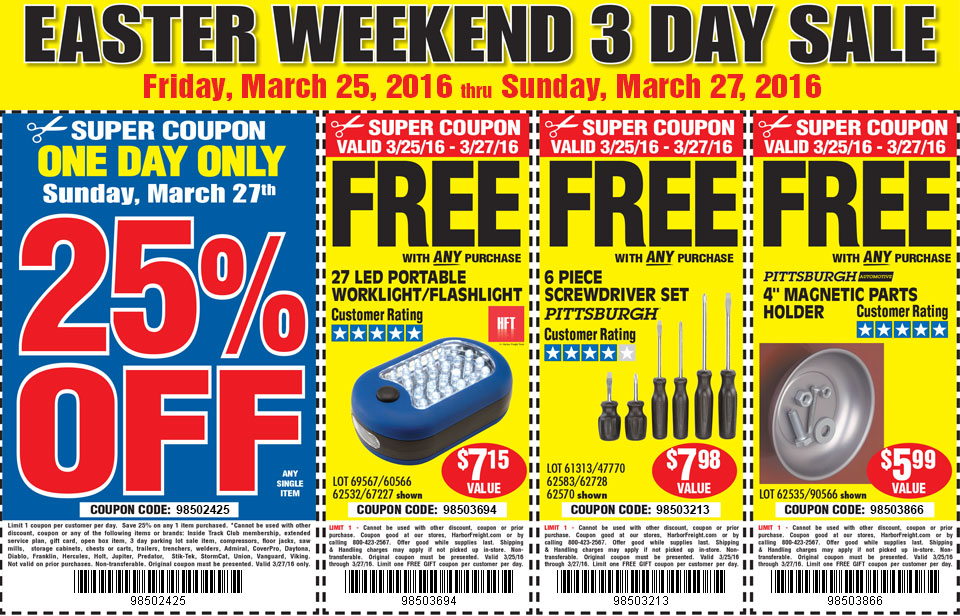 Easter Weekend 3 Day Sale