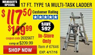 17 Ft. Type 1A Multi-Task Ladder