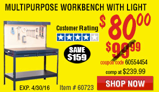 Multipurpose Workbench with Light