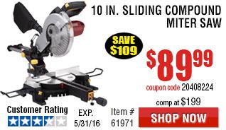 10 in. Sliding Compound Miter Saw