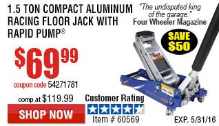 1.5 Ton Compact Aluminum Racing Floor Jack with Rapid Pump