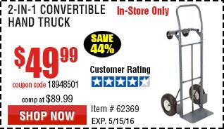 2-in-1 Convertible Hand Truck