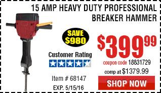 15 Amp Heavy Duty Professional Breaker Hammer