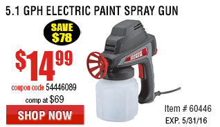 5.1 GPH Electric Paint Spray Gun