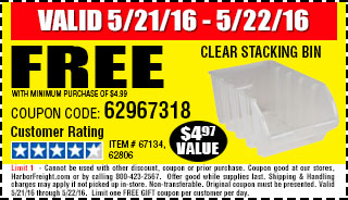 Free gift - Clear Stacking Bin