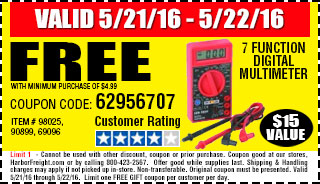 Free gift - 7 Function Digital Multimeter