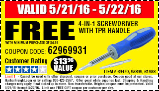 Free gift - 4-in-1 Screwdriver with TPR Handle