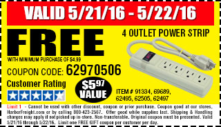 Free gift - 4 Outlet Power Strip