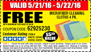 Free gift - Microfiber Cleaning Cloths 4 Pk.