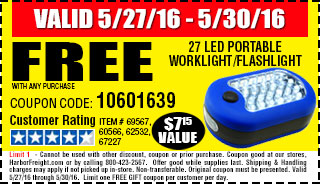 Memorial Day Sale Free Flashlight