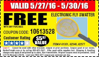 Memorial Day Sale Free Swatter