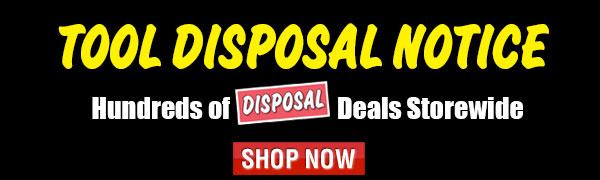 Tool Disposal Notice Sale