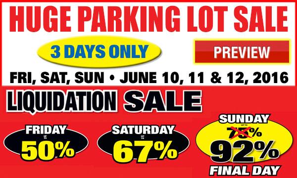 Parking Lot Sale