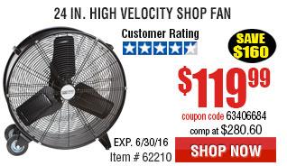 24 in. High Velocity Shop Fan