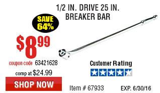 1/2 in. Drive 25 in. Breaker Bar