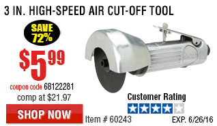 3 in. High-Speed Air Cut-Off Tool