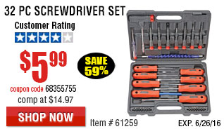 32 Pc Screwdriver Set
