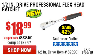 1/2 in. Drive Professional Flex Head Ratchet