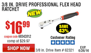 3/8 in. Drive Professional Flex Head Ratchet