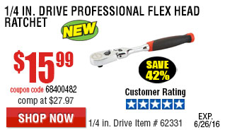1/4 in. Drive Professional Flex Head Ratchet