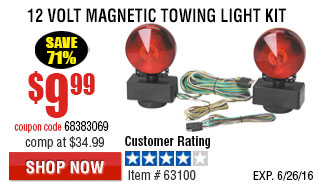12 Volt Magnetic Towing Light Kit