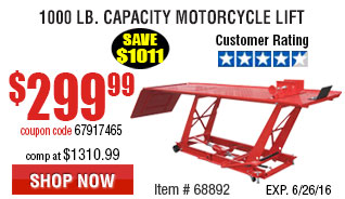 1000 Lb. Capacity Motorcycle Lift