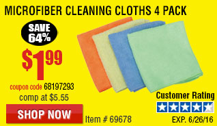 Microfiber Cleaning Cloths 4 Pk