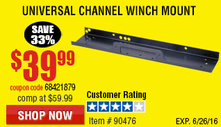 UNIVERSAL CHANNEL WINCH MOUNT