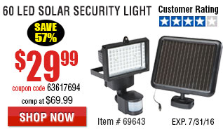 60 LED Solar Security Light