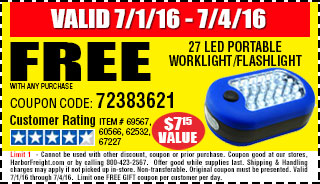 Free LED flashlight