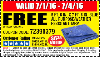 Free all purpose tarp