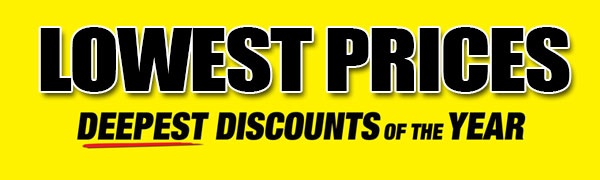 Lowest prices. Deepest discounts of the year