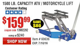 1500 lb. Capacity ATV / Motorcycle Lift