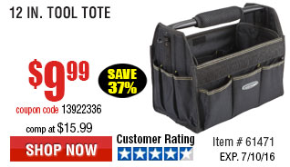 12 In. Tool Tote