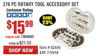276 Pc Rotary Tool Accessory Set
