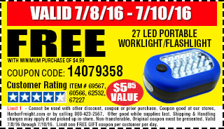 Free LED portable flashlight