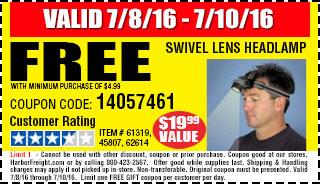 Free swivel lens headlamp