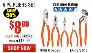 5 Pc Pliers Set