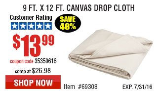 9 Ft. x 12 Ft. Canvas Drop Cloth
