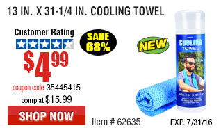 13 in. x 31-1/4 in. Cooling Towel