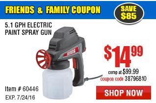 5.1 GPH Electric Paint Spray Gun