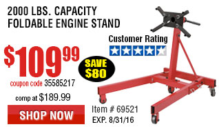 2000 lb. Capacity Foldable Engine Stand