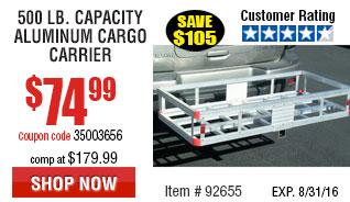 500 lb. Capacity Aluminum Cargo Carrier