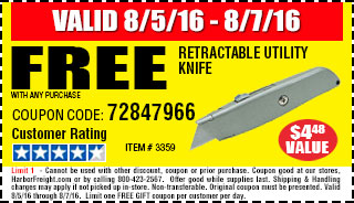 Free Retractable Utility Knife