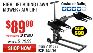 High Lift Riding Lawn Mower / ATV Lift