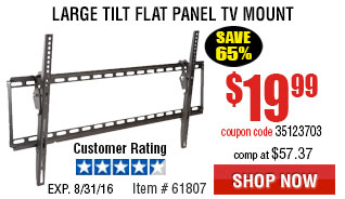 Large Tilt Flat Panel TV Mount