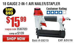 18 Gauge 2-in-1 Air Nailer/Stapler